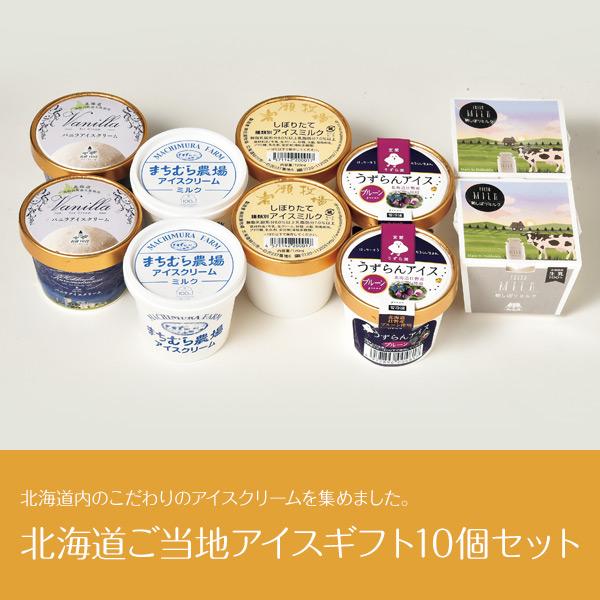 北海道ご当地アイスギフト10個(5種×2個)セット 【送料無料】