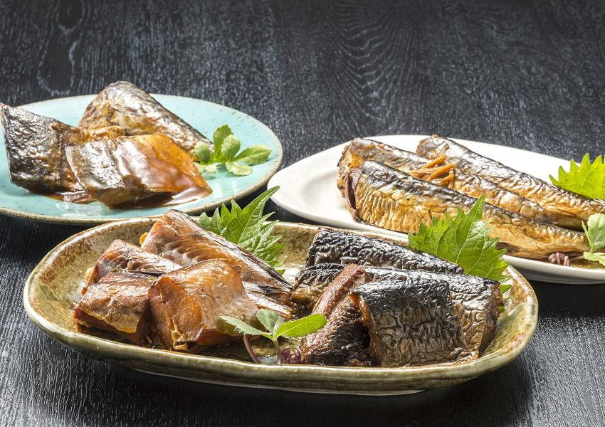 おが和 北の煮魚セット 4種(いわし・にしん・さば・鱈)【送料無料】