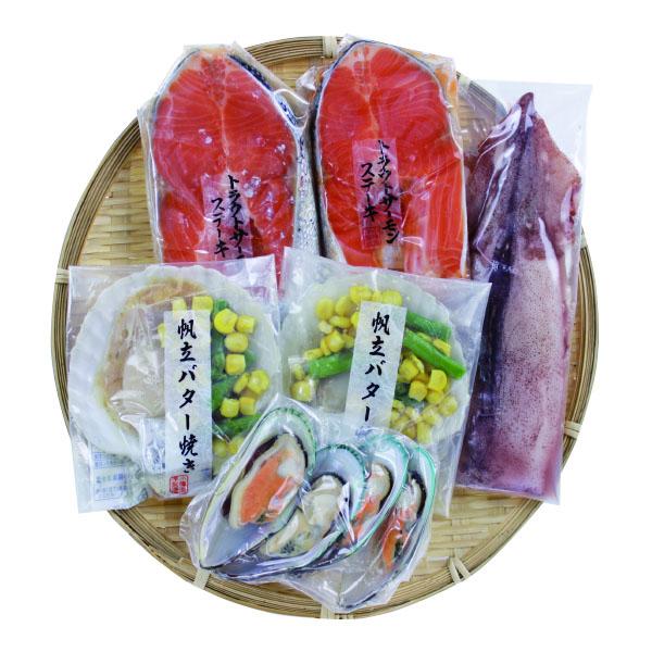 小樽海洋水産 海鮮焼き 4種詰合せ【送料無料】【ギフトセット】【詰め合わせ】【北海道】