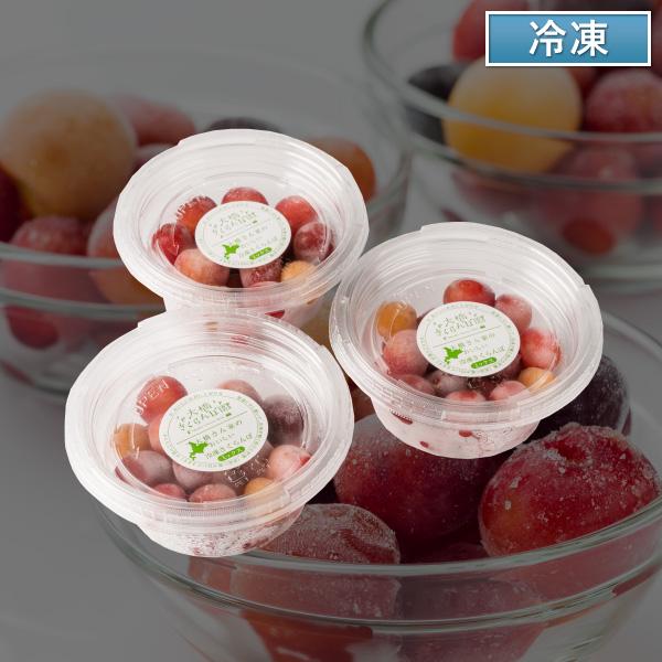 大橋さくらんぼ園 冷凍さくらんぼ 3個セット【送料無料】