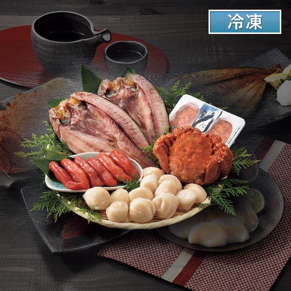 北海道の恵みセット(毛がに、真ほっけ、いくら醤油漬、帆立貝柱)