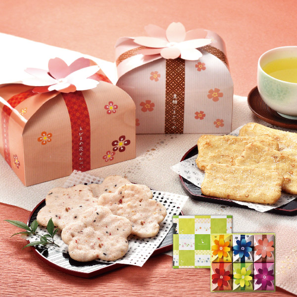 金澤兼六製菓 せんべいギフト 花とりどり 5種類×5枚【ギフトセット】【詰め合わせ】【煎餅】