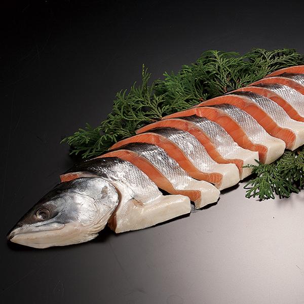 時鮭(甘塩) 半身1kg個包装