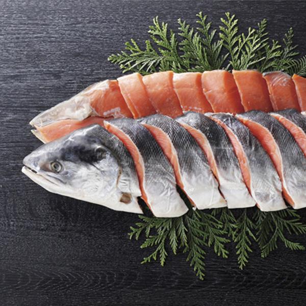 キョクイチ 時鮭姿切身 1尾【送料無料】【ギフトセット】【詰め合わせ】【北海道】
