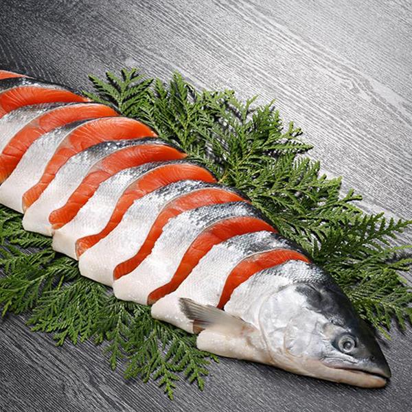 キョクイチ 紅鮭姿切身(海洋深層水仕込み) 半身【送料無料】【ギフトセット】【詰め合わせ】【北海道】