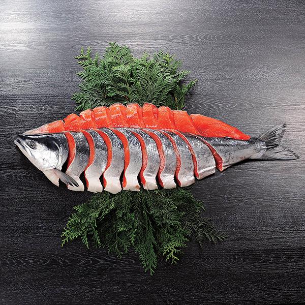 キョクイチ 紅鮭姿切身(海洋深層水仕込み) 1尾【送料無料】【ギフトセット】【詰め合わせ】【北海道】