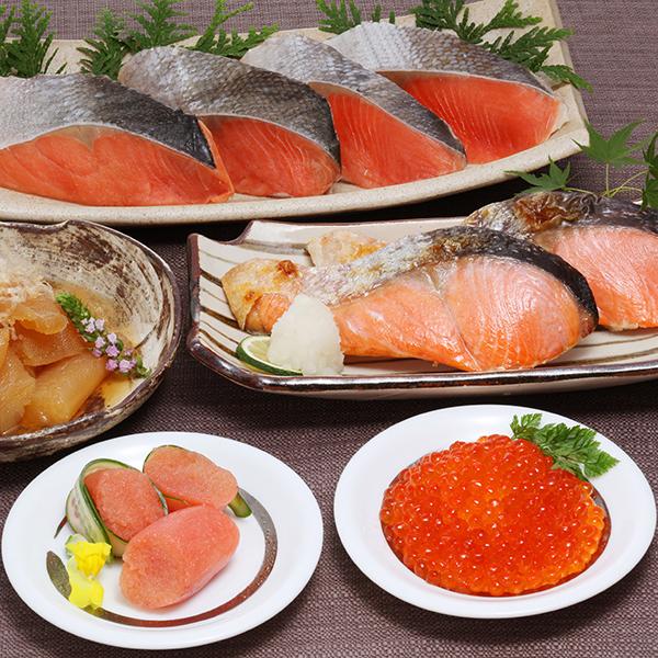 キョクイチ 紅鮭&魚卵セット【送料無料】【ギフトセット】【詰め合わせ】【北海道】