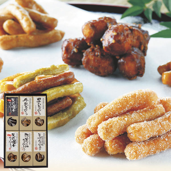 三葉製菓 かりんとう 6点セット【送料無料】【ギフトセット】【詰め合わせ】【北海道】【黒糖】