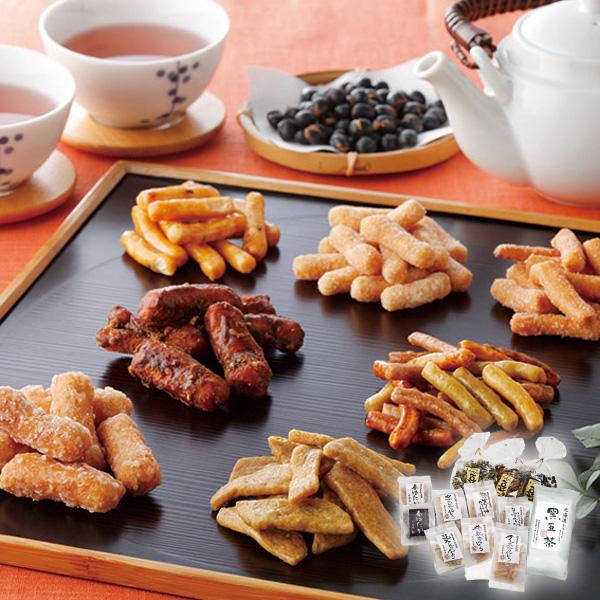 三葉製菓 かりんとう・豆菓子・黒豆茶 セット【送料無料】【ギフトセット】【詰め合わせ】【北海道】【和菓子】
