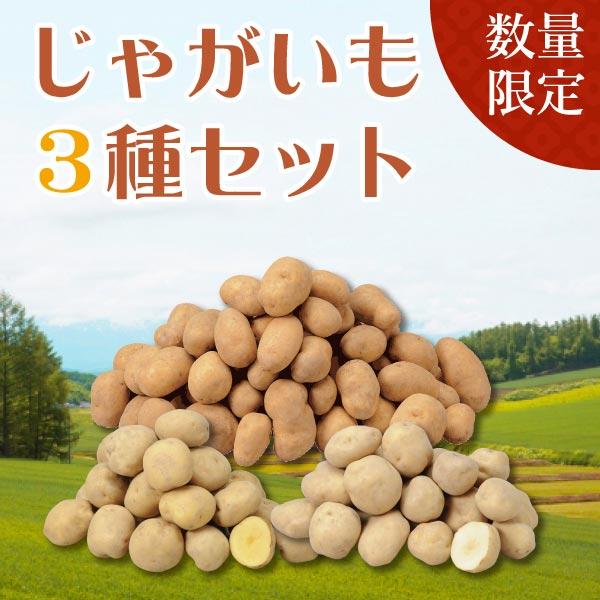 北海道産 じゃがいも3種セット【送料無料】【ギフトセット】【詰め合わせ】【北海道】