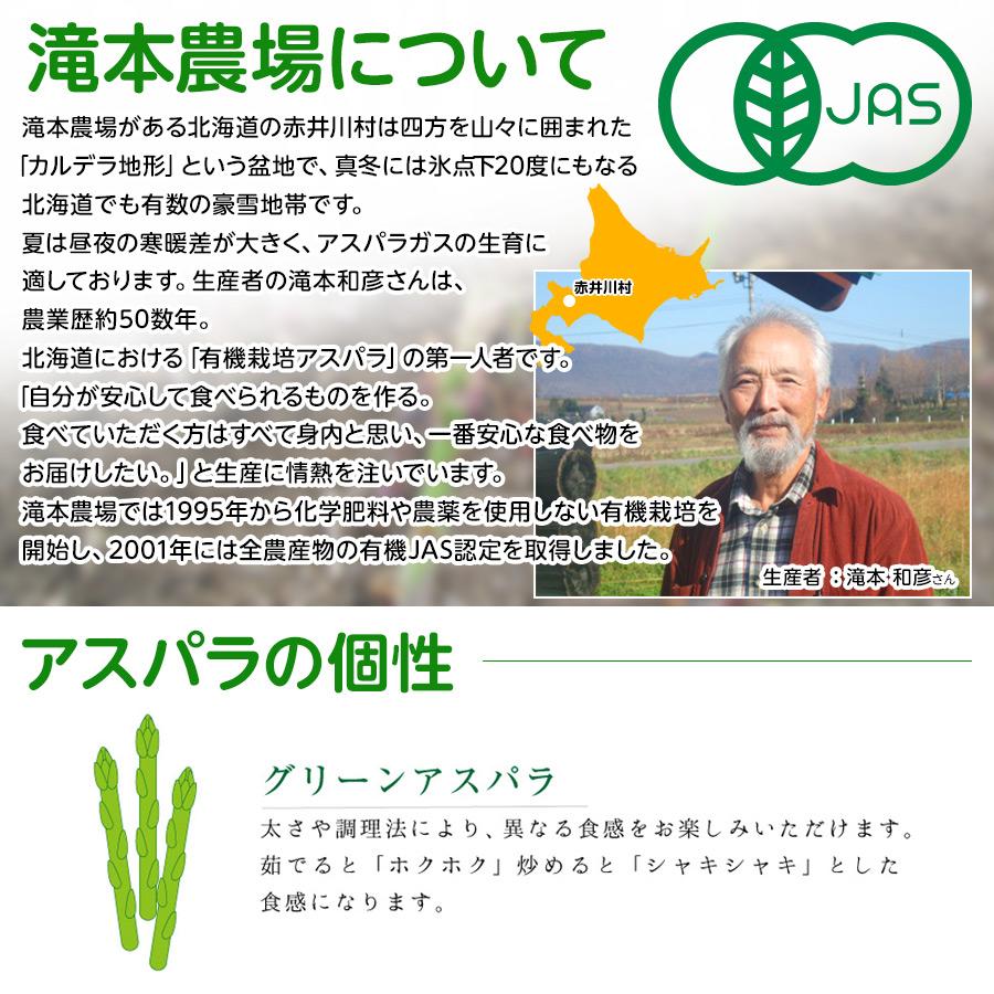 有機栽培グリーンアスパラ 2Lサイズ 800g【送料無料】