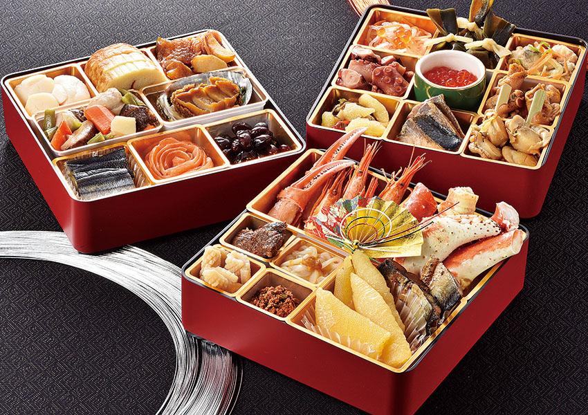 三國推奨 北海道のおせち 6.5寸3段重+三國推奨北海道クレームブリュレセット