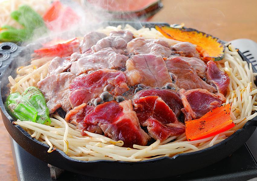 肉の山本 味付ジンギスカン・ホルモンセット【送料無料】