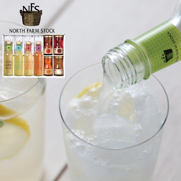 NORTH FARM STOCK ジンジャーエール&ジュース 飲み比べギフト【送料無料】