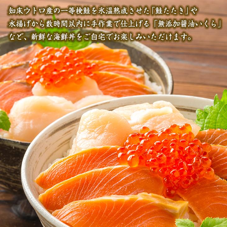 ユートピア知床 知床丼セット【送料無料】【ギフトセット】【詰め合わせ】【北海道】【海鮮】