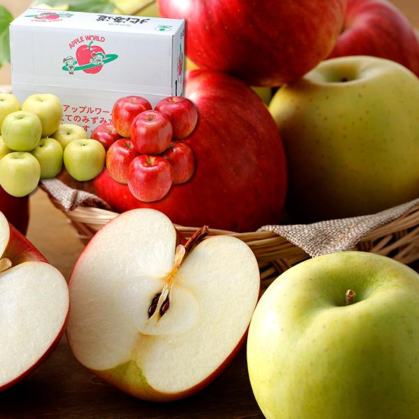 2種のりんごセット3kg【送料無料】【産地直送のため包装不可】
