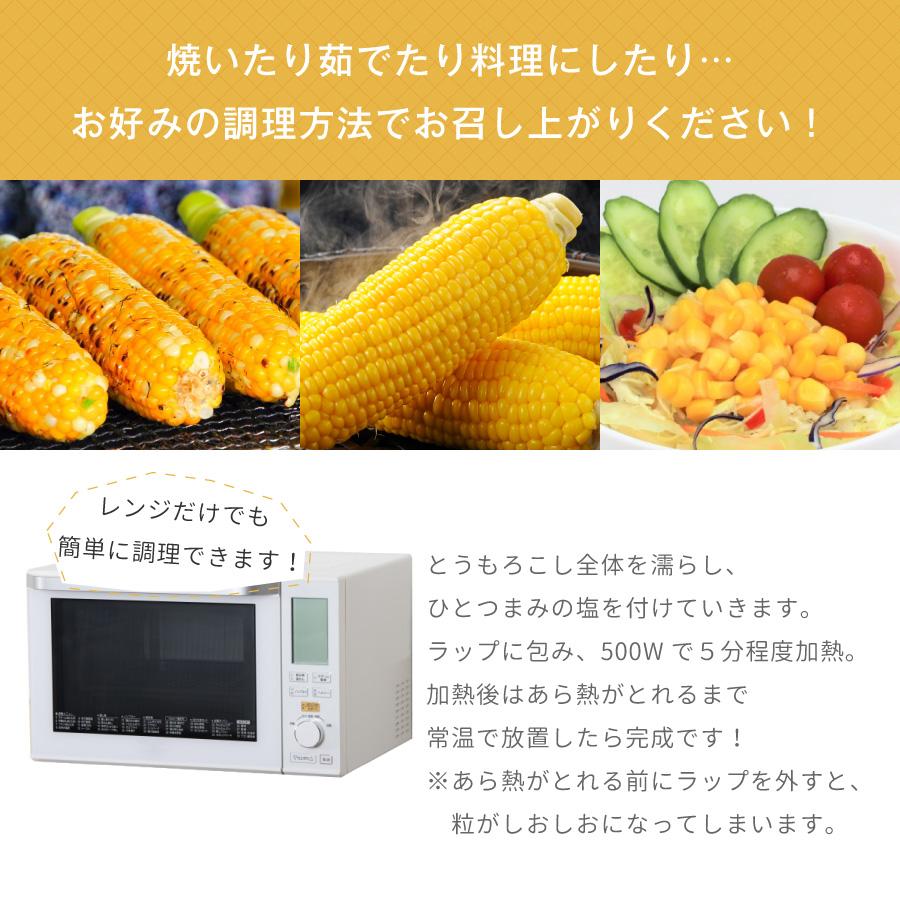 北海道産とうもろこし(とうきび、コーン)は、茹でたり焼いたり、サラダやスープに使っても美味しいです。